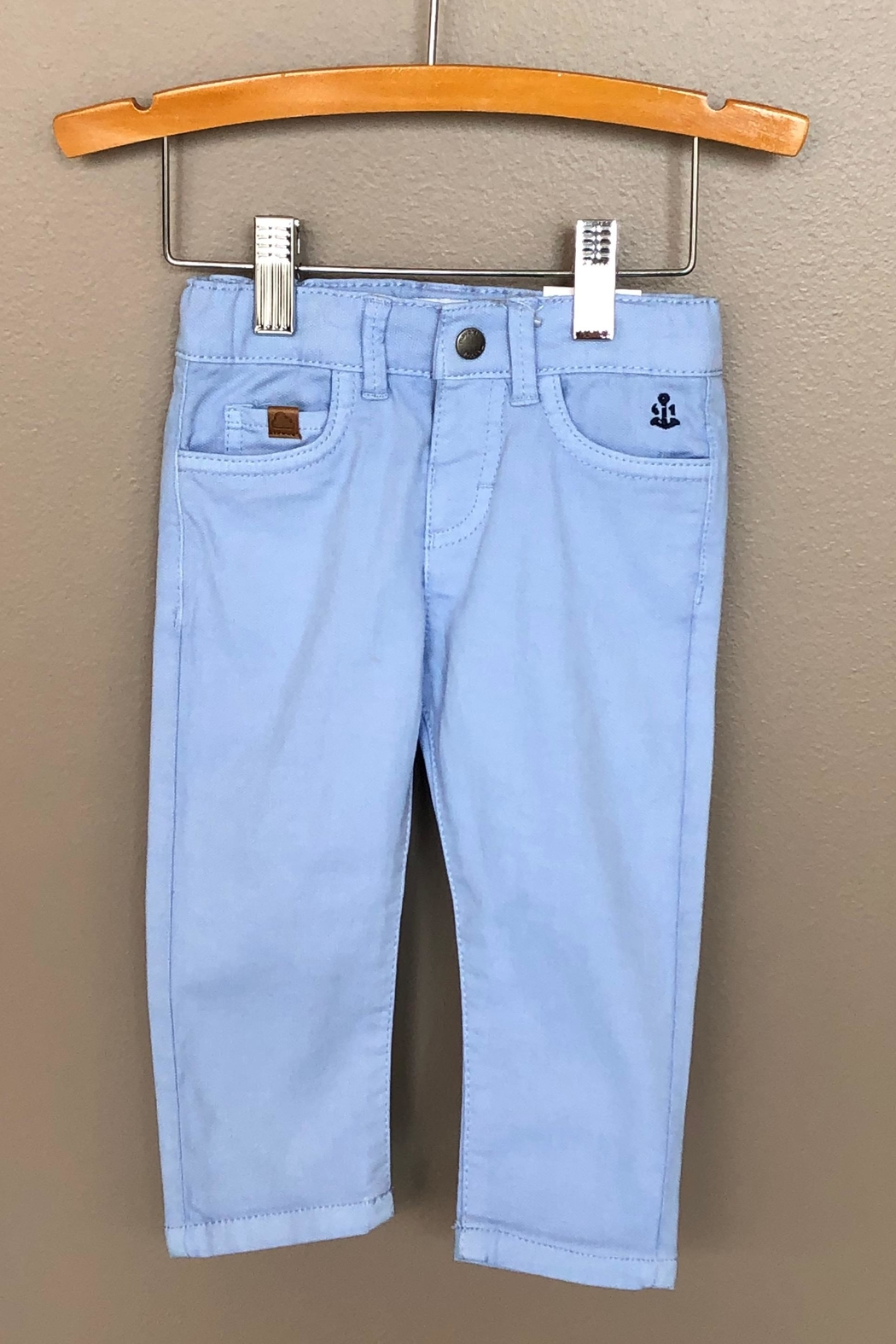 Mayoral Colored Denim Pant - Front Cropped Image