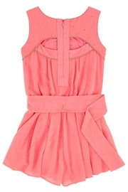 Mayoral Coral Crêpe Romper - Front full body