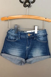 Mayoral Cuffed Denim Short - Front cropped