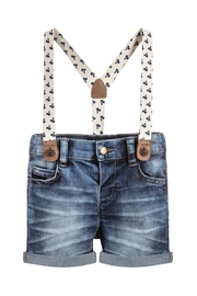 Mayoral Dark-Denim Shorts & Suspenders - Product Mini Image