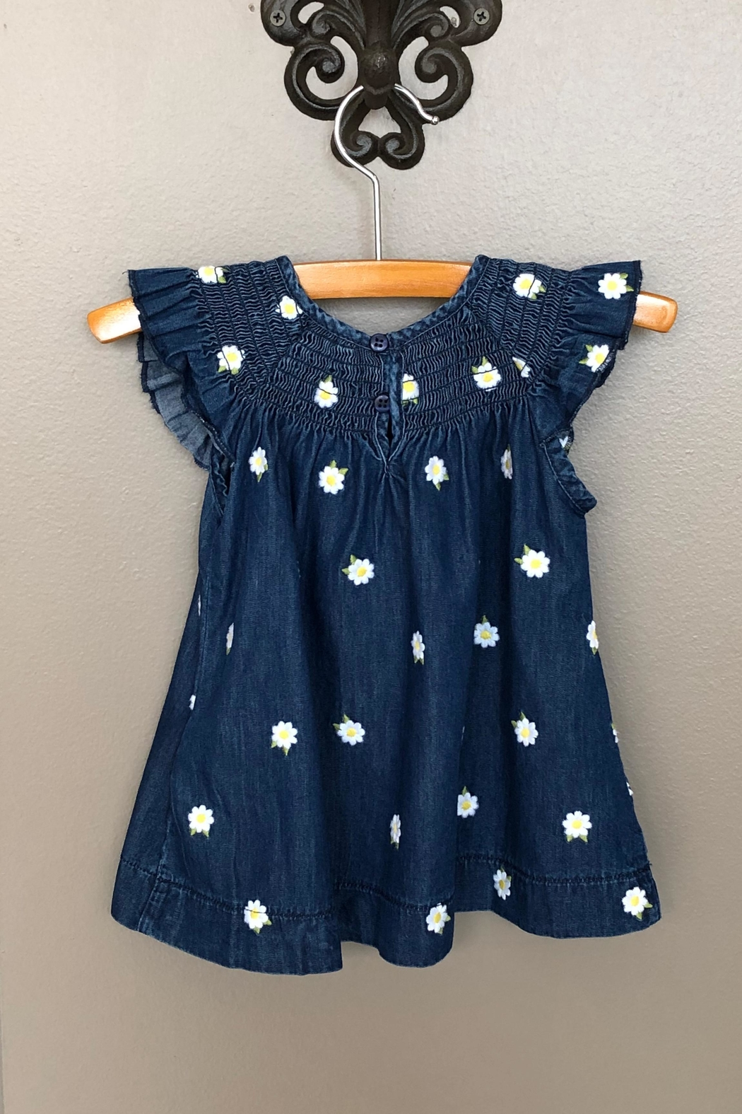 Mayoral Denim Daisy Dress - Front Full Image