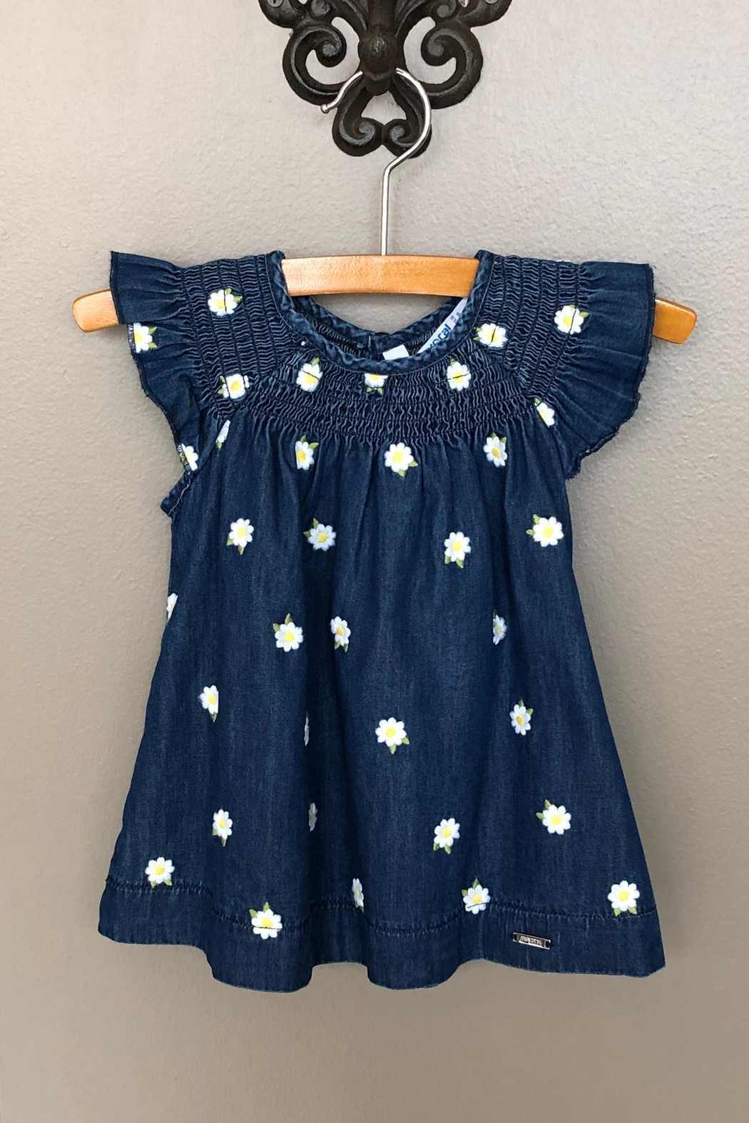 Mayoral Denim Daisy Dress - Front Cropped Image