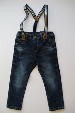 Shoptiques Product: Denim Suspender Pants