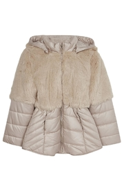 Mayoral Fauxfur Top Coat - Front cropped