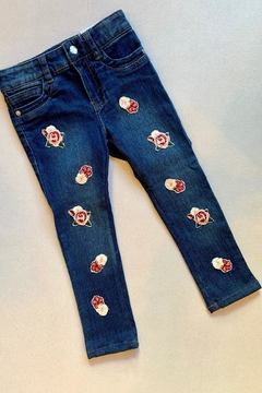 Mayoral Floral Embroidery Jeans - Alternate List Image