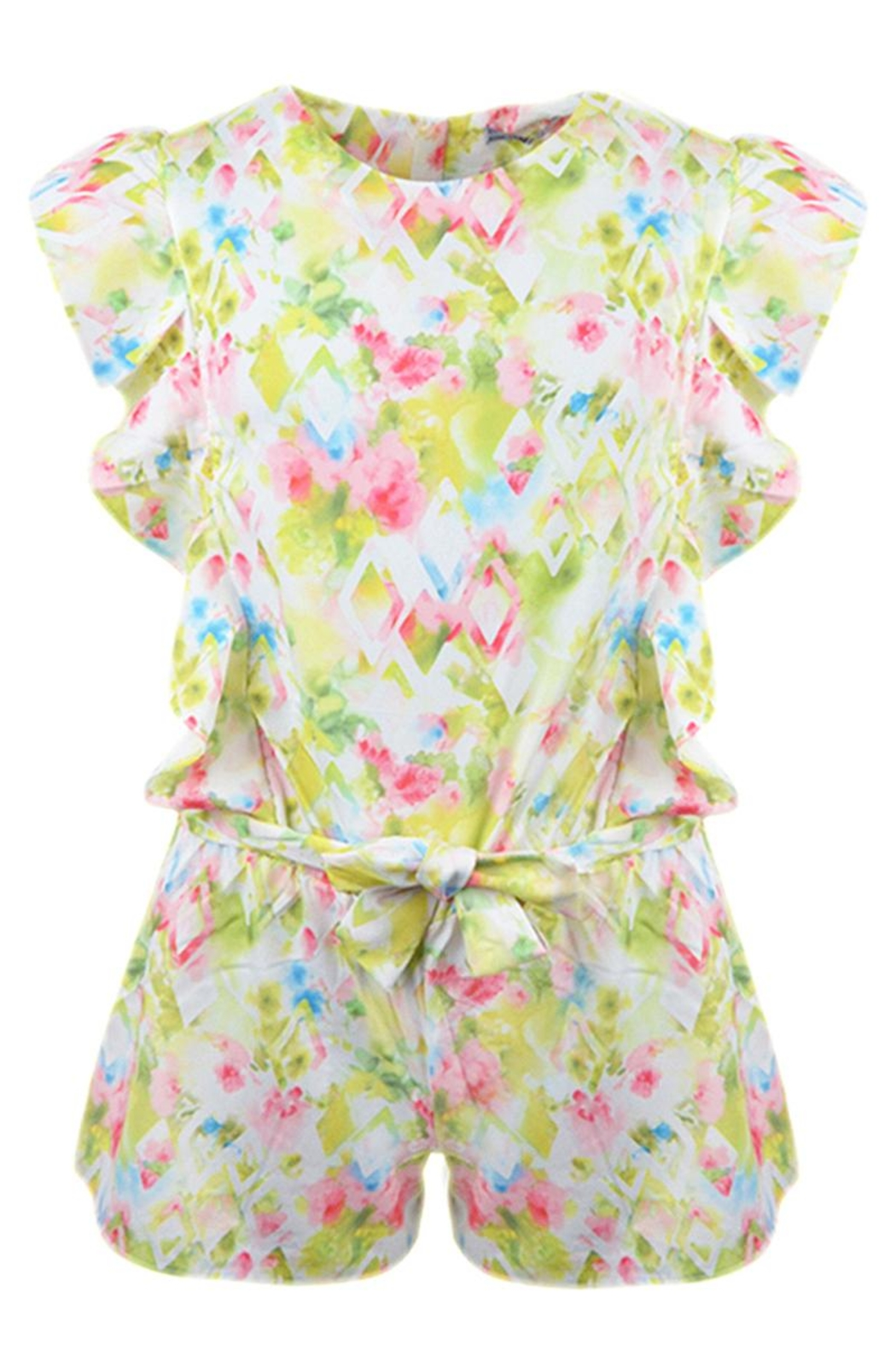 Mayoral Floral Watercolor Romper - Front Cropped Image