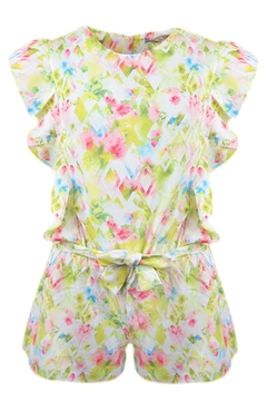 Mayoral Floral Watercolor Romper - Product List Image