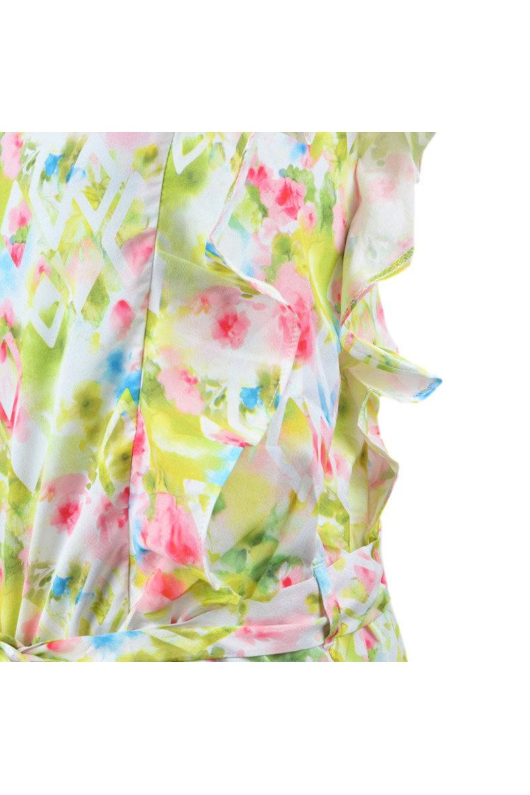 Mayoral Floral Watercolor Romper - Front Full Image