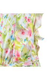 Mayoral Floral Watercolor Romper - Front full body
