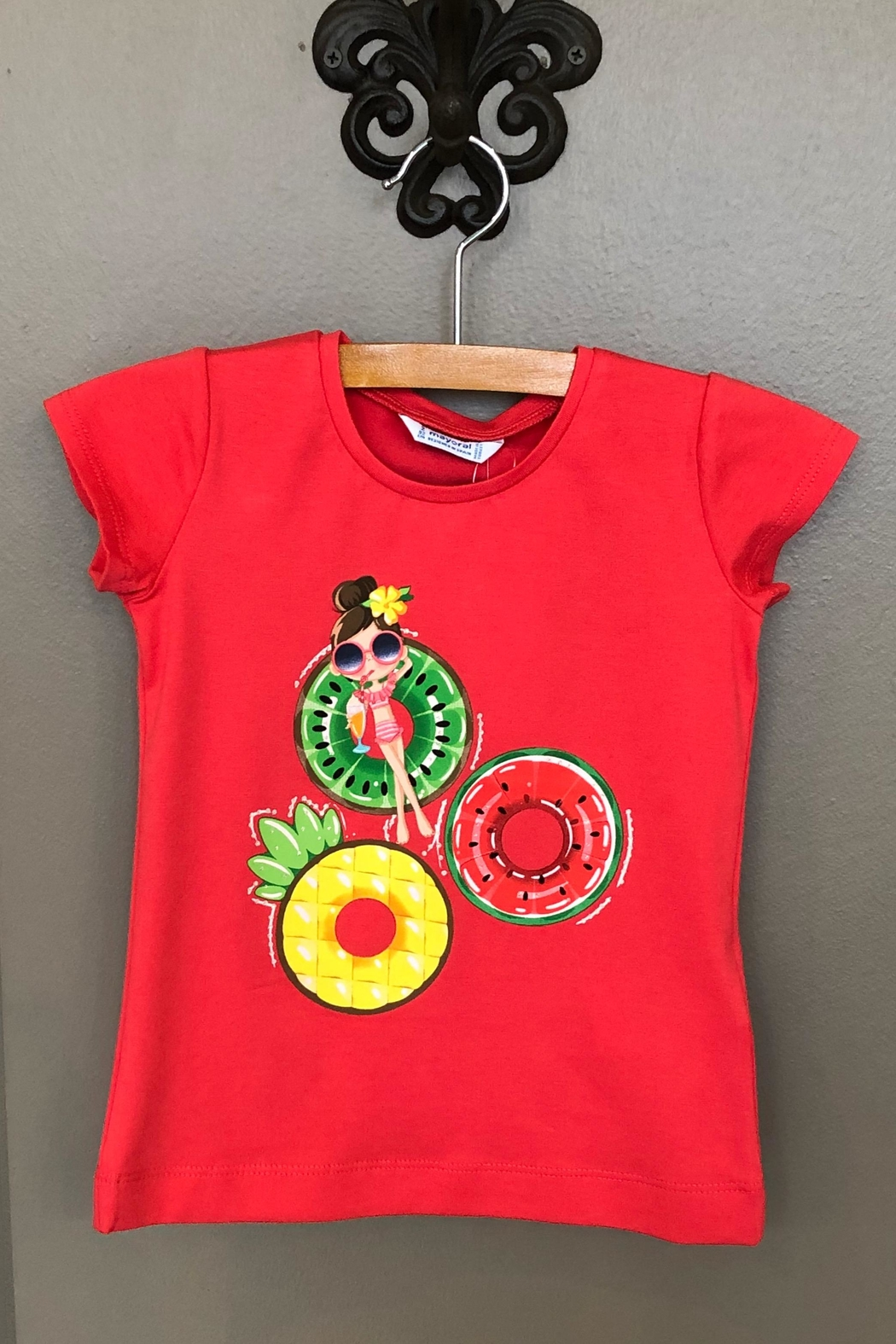 Mayoral Fruit Floaties Tee - Front Cropped Image
