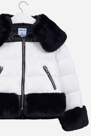 Mayoral Fur Puffer Jacket - Front full body
