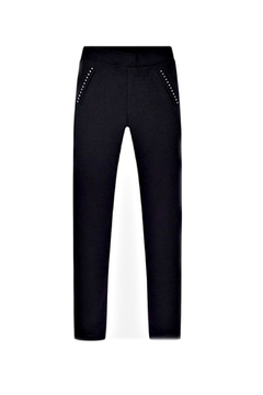Shoptiques Product: Girls Black-Studded Jeggings