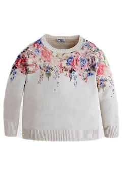 Shoptiques Product: Girls Floral Sweater