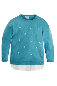 Shoptiques Product: Girls Snowflake Sweater