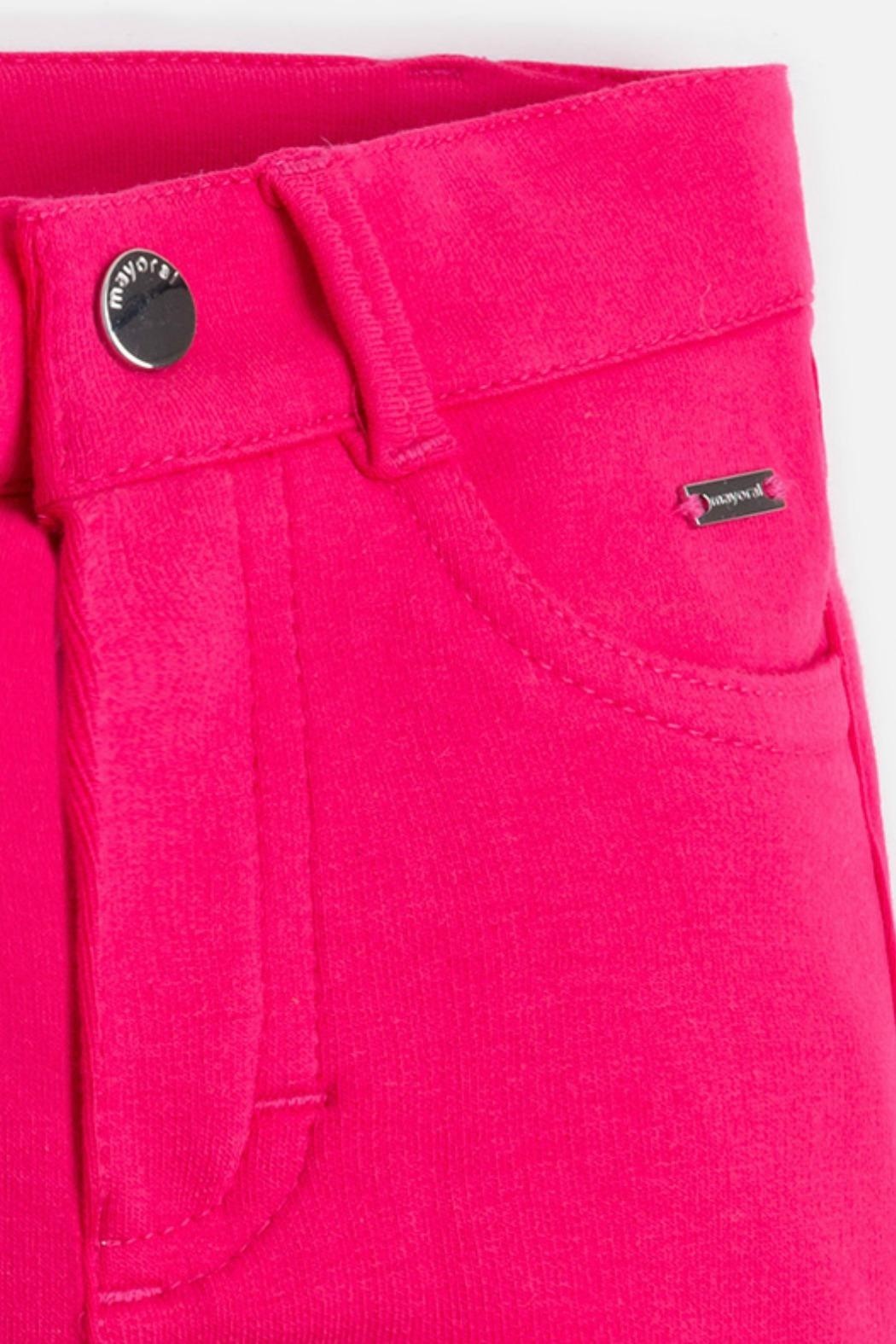 Mayoral Girls Super-Skinny-Magenta-Jeggings - Side Cropped Image