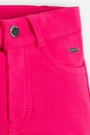 Mayoral Girls Super-Skinny-Magenta-Jeggings - Side cropped