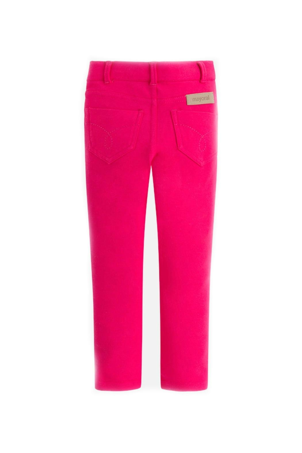 Mayoral Girls Super-Skinny-Magenta-Jeggings - Front Full Image