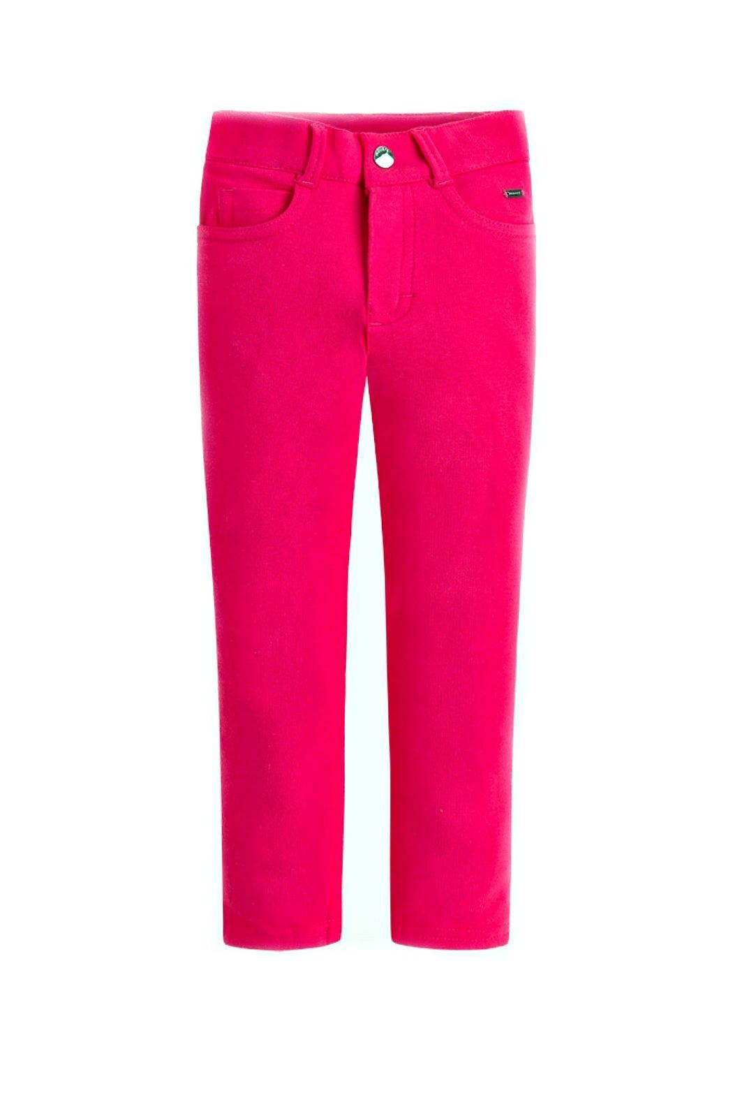 Mayoral Girls Super-Skinny-Magenta-Jeggings - Main Image