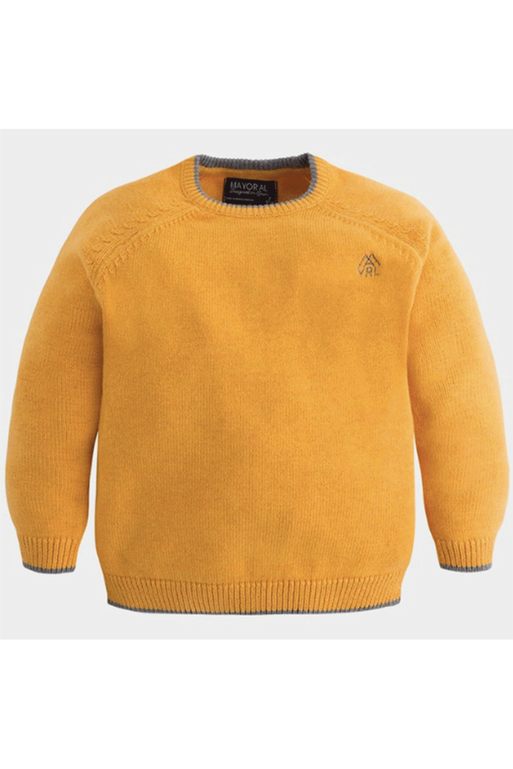 Mayoral Gold Crew Neck sweater - Front Cropped Image