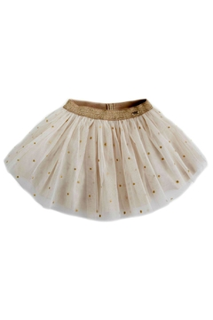 Shoptiques Product: Gold-Star Glitter Skirt