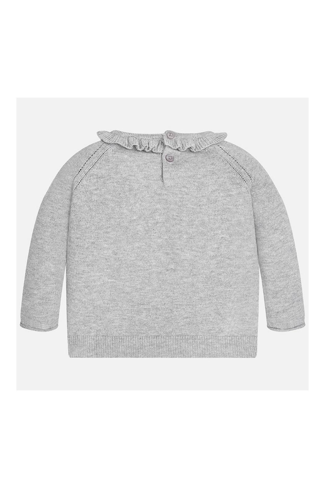 Mayoral Grey Knitted Sweater - Front Full Image
