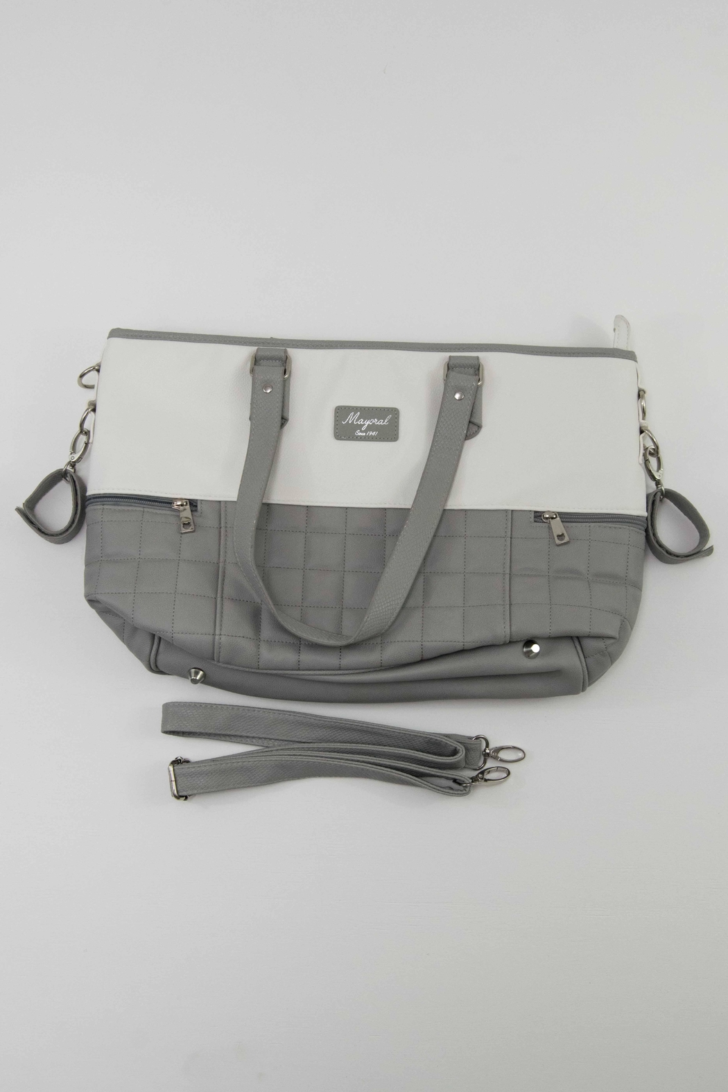 Mayoral Grey & White Diaper Bag - Main Image