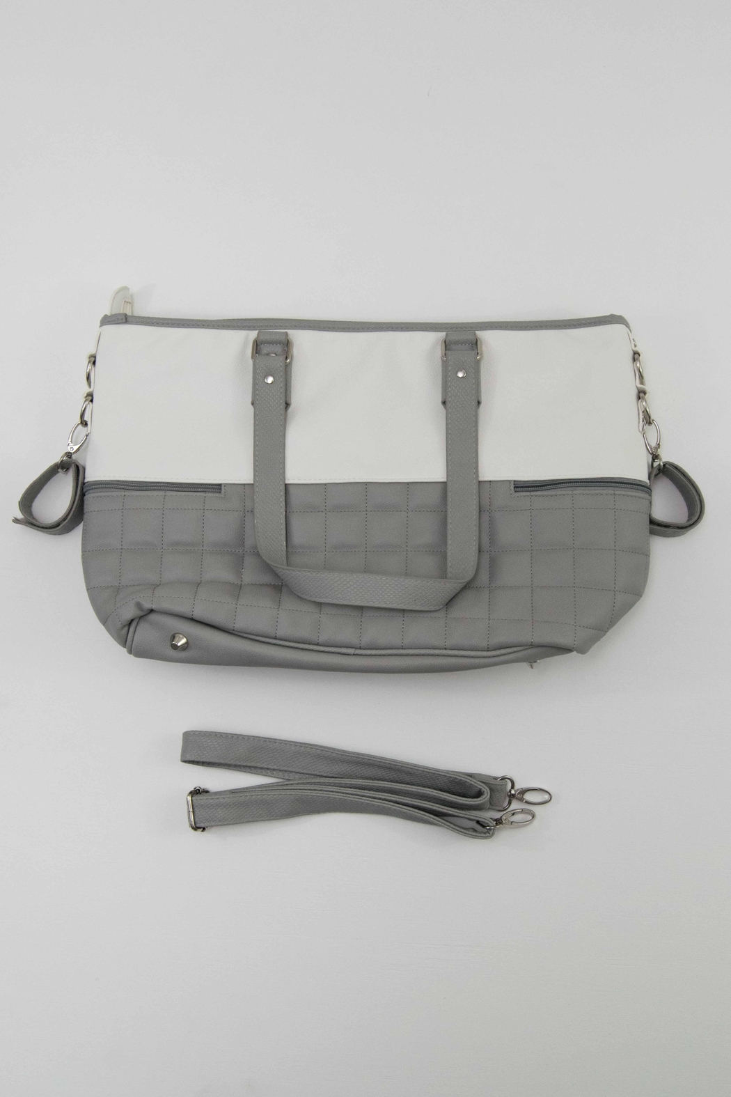 Mayoral Grey & White Diaper Bag - Front Full Image