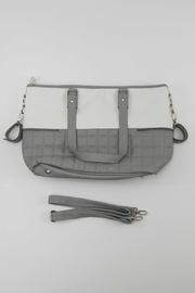 Mayoral Grey & White Diaper Bag - Front full body