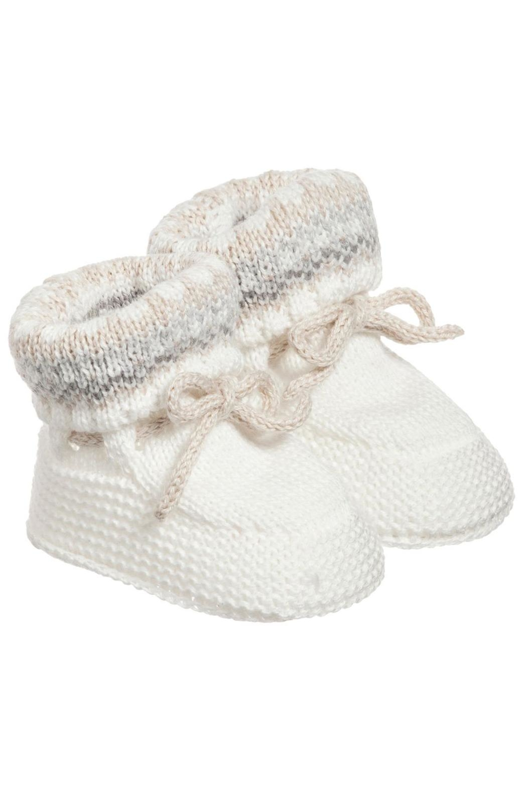 Mayoral Ivory Knit Booties - Side Cropped Image