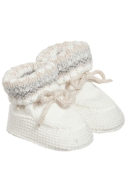 Mayoral Ivory Knit Booties - Side cropped