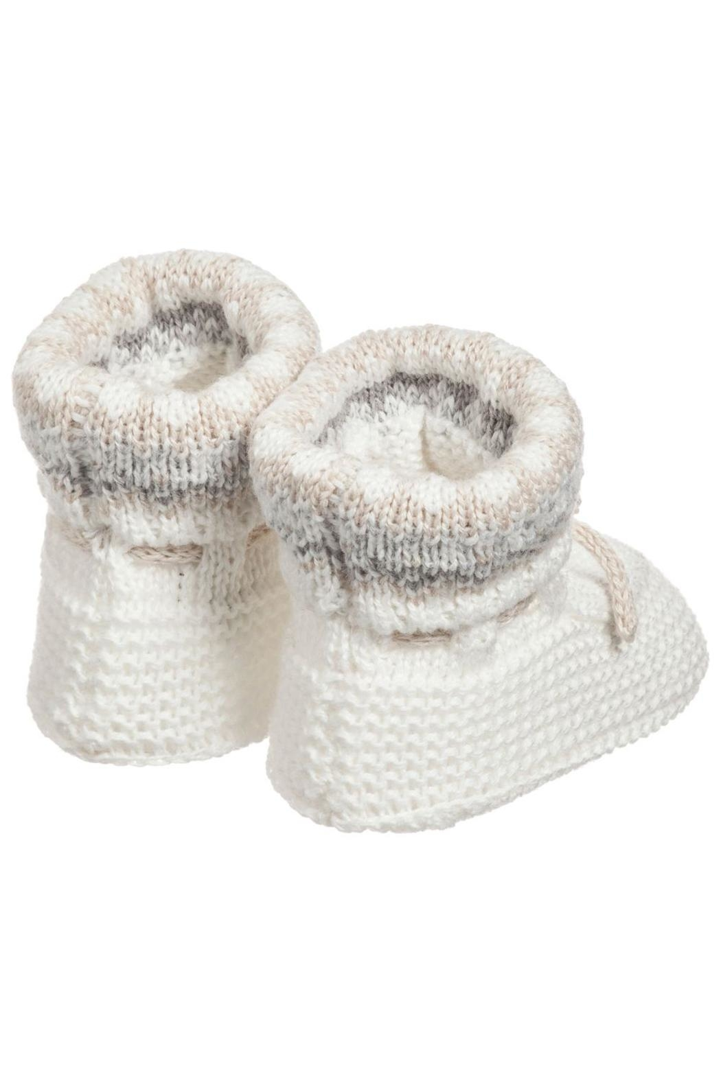Mayoral Ivory Knit Booties - Front Full Image