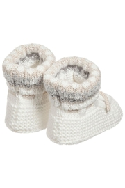 Mayoral Ivory Knit Booties - Front full body