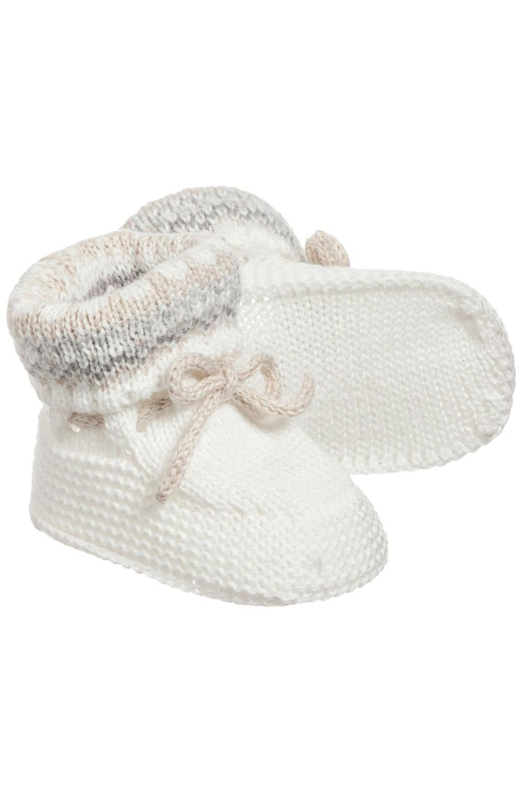 Mayoral Ivory Knit Booties - Main Image