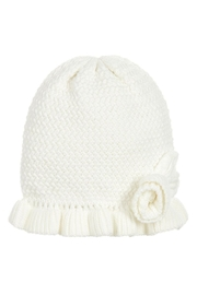 Mayoral Ivory Knit Ruffle Hat - Product Mini Image