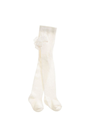 Mayoral Ivory Ruffle-Flounce Tights - Product Mini Image