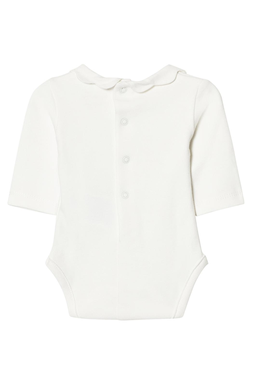 Mayoral Ivory Scallop Collar Onesie - Front Full Image