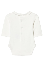 Mayoral Ivory Scallop Collar Onesie - Front full body