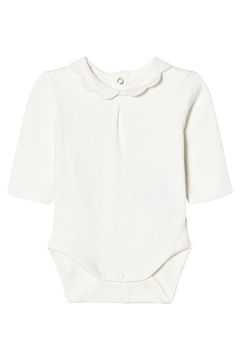 Shoptiques Product: Ivory Scallop Collar Onesie