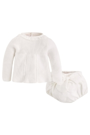 Mayoral Ivory Sweater/bloomer Set - Product Mini Image
