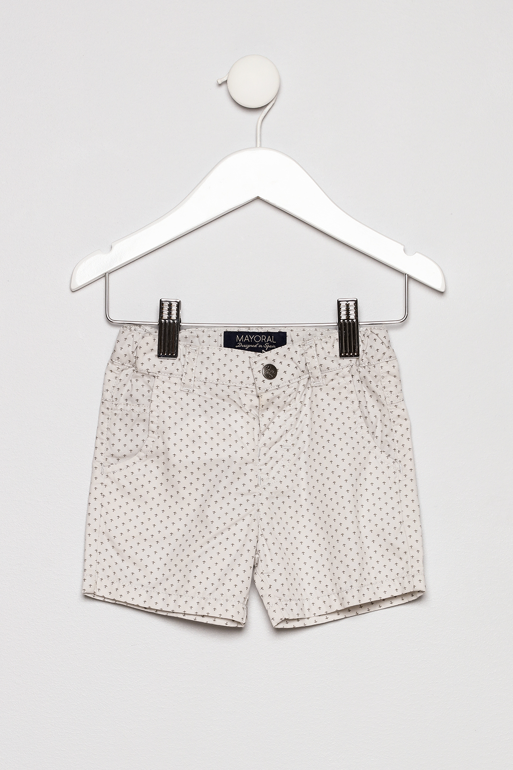 Mayoral Collar Shirt with Khaki Shorts Outfit - Main Image