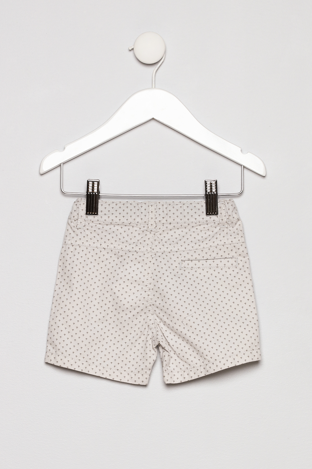 Mayoral Collar Shirt with Khaki Shorts Outfit - Back Cropped Image