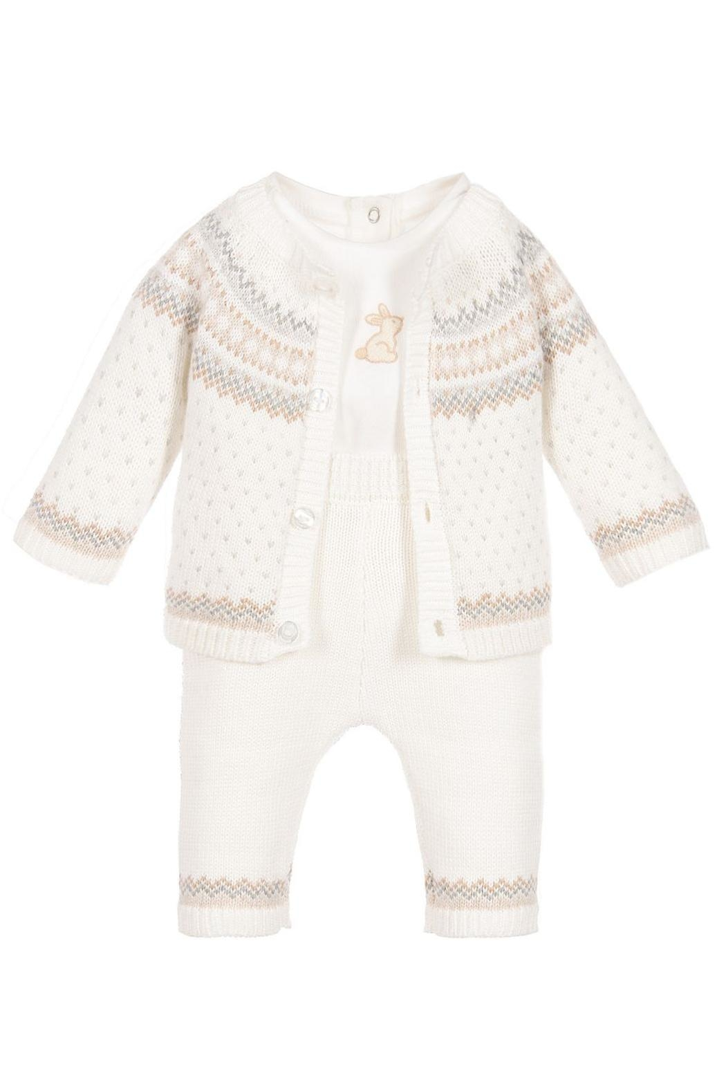 Mayoral Knit Dungarees Set - Front Full Image