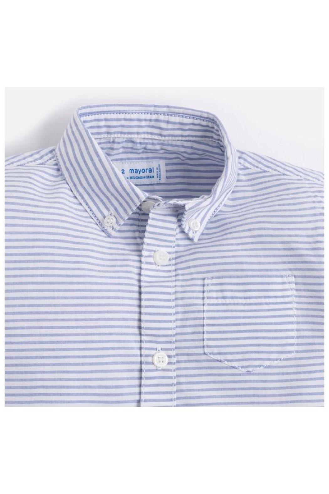 Mayoral L/s Striped Shirt - Side Cropped Image