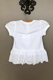 Mayoral Lace Peplum Tee - Front full body