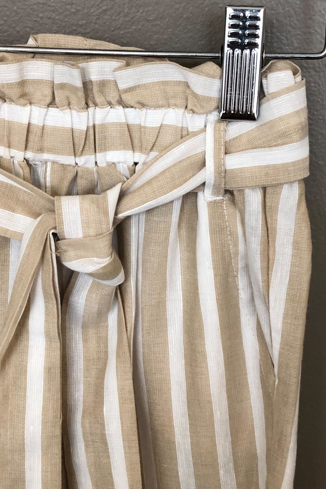Mayoral Linen Striped Pant - Side Cropped Image