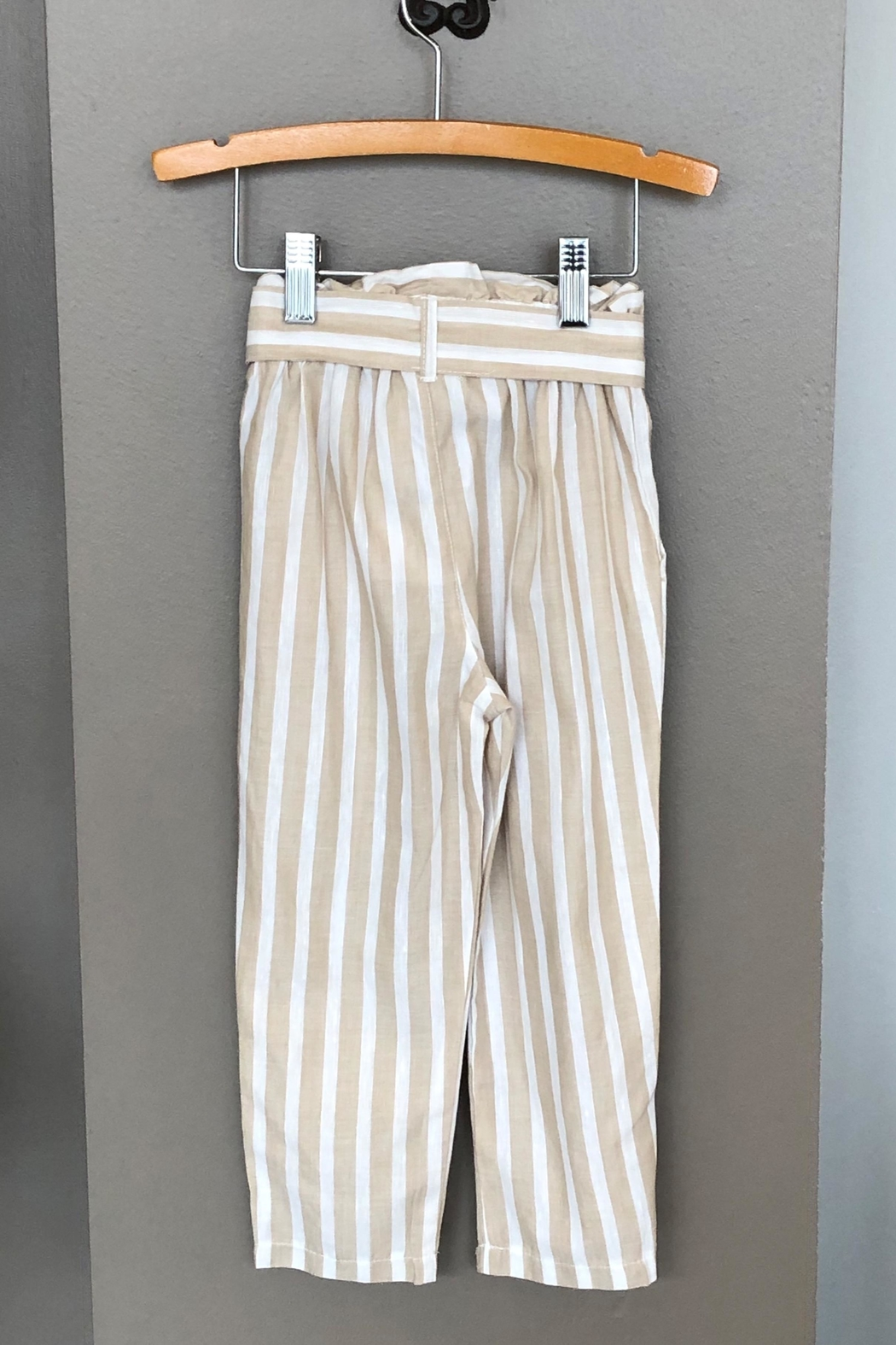 Mayoral Linen Striped Pant - Front Full Image