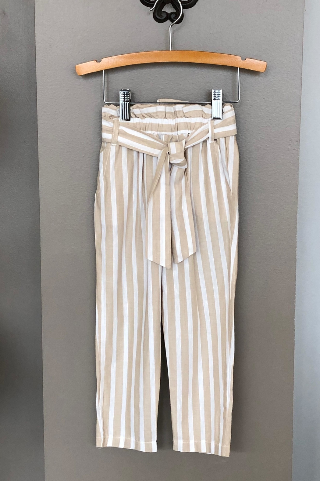 Mayoral Linen Striped Pant - Main Image