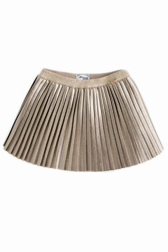 Shoptiques Product: Metallic Pleated Skirt
