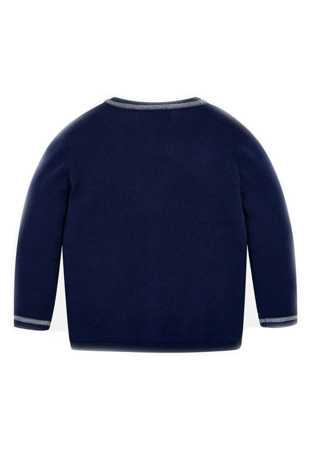 Mayoral Navy-Blue Classic Cardigan - Front Full Image