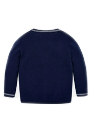 Mayoral Navy-Blue Classic Cardigan - Front full body